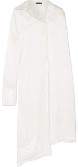Ann Demeulemeester Asymmetric Silk-satin Blouse - White