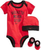 Nike Baby Boys' 3-Piece Buckets Never Stop Bodysuit, Hat and Booties Set