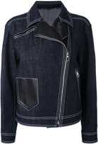 Versace denim biker jacket - women - Cotton/Spandex/Elastane - 38