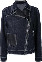 Versace denim biker jacket