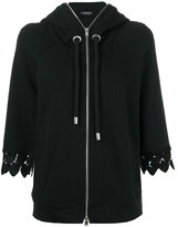 Twin-Set embroidered sleeves hoodie - women - Cotton - XS