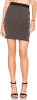 Bobi Stretch Twill Mini Skirt