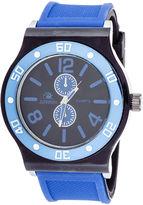JCPenney ZUNAMMY Zunammy Mens Blue Silicone Strap Sport Watch