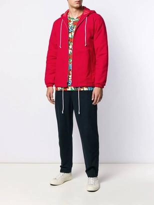 Comme des Garçons Shirt Red Hooded Jacket