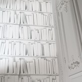 Graham and Green White Library Wallpaper