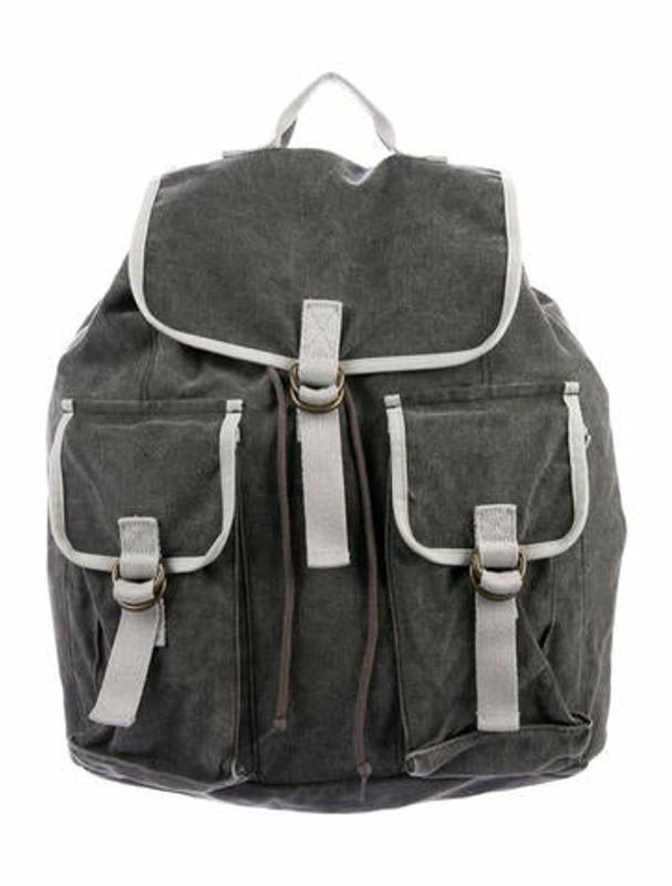 Marc Jacobs Large Denim Drawstring Backpack Grey
