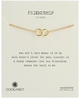 Dogeared Friendship Double Linked Rings Chain Bracelet