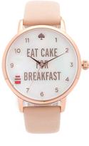 Kate Spade Metro Eat Cake for Breakfest Watch