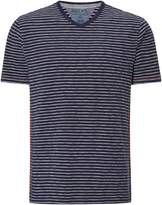 White Stuff Men's Voyage V Neck Stripe Tee