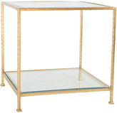 Ave Home Chloe Glass Side Table - Gold Leaf