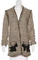 Lanvin Fringe-Trimmed Knit Cardigan
