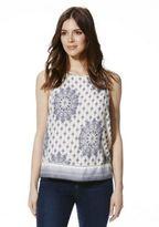 F&F Tile Print Sleeveless Shell Top, Women's