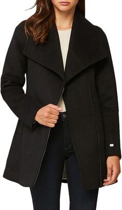 Soia & Kyo Maeva Removable Inset Bib Wool Blend Coat