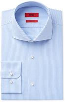 HUGO BOSS HUGO Men's Slim-Fit Blue Stripe Grid Dress Shirt