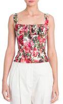 Dolce & Gabbana Floral Corset Top