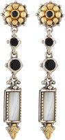 Konstantino Ismene Black Agate & Mother-of-Pearl Dangle Earrings