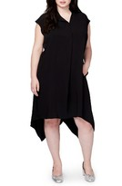 Rachel Roy Plus Size Women's Harper Handkerchief Hem Midi Dress