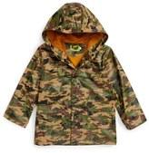Western Chief Camo Print Hooded Raincoat (Toddler Boys & Little Boys)