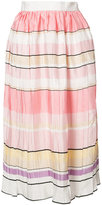 Monique Lhuillier striped midi skirt - women - Silk - 2