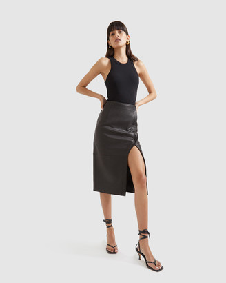 SABA Women's Black Leather skirts - Lilia Leather Pencil Skirt - Size One Size, 8 at The Iconic
