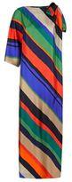 Escada Nanico Asymmetric Stripe Gown