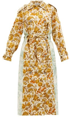 Rave Review Rue Floral-print Patchworked-cotton Trench Coat - Multi