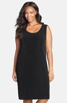Vikki Vi Plus Size Women's Sleeveless Shift Dress