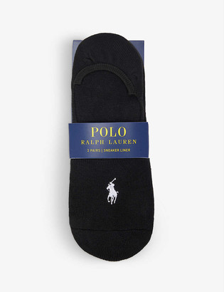 Polo Ralph Lauren Logo-embroidered stretch-jersey socks pack of three