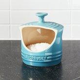 Crate & Barrel Le Creuset ® Caribbean Blue Salt Crock