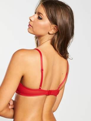 Calvin Klein Unlined Bralette- Red