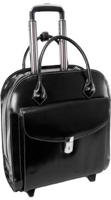 """McKlein Usa Granville Carrying Case (Roller) for 15.4"""", Notebook - Black - Acrylonitrile Butadiene Styrene (ABS), Leather - Hand Strap, Trolley Strap - 11.5"""" Height x 16.3"""" Width x 5.3"""