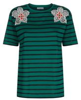 Sandro Hawai Flower Stripe T-Shirt
