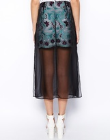 Asos Lace Skirt with Sheer Layer