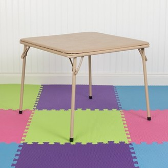 Flash Furniture Kids Tan Folding Table