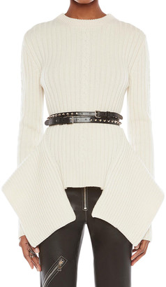 Alexander McQueen Engineered Wool-Cashmere Cable-Knit Sweater