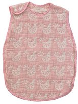 Living Textiles Muslin Sleeping Bag, Pink Bird by