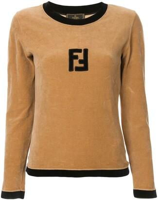 Fendi Pre-Owned velvet effect longsleeved top