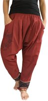 virblatt Low crotch UNISEX harem pants with spiritual Yantra tattoo – Paed