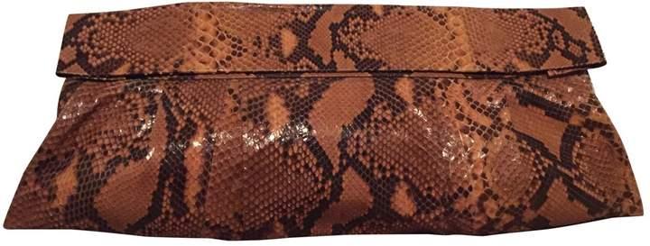 Maison Margiela Camel Python Clutch Bag