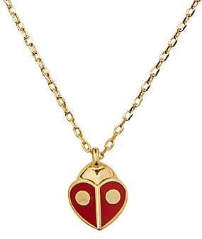 Kate Spade Women's Ladybug Enamel Heart Mini Pendant Necklace