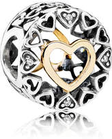 Pandora Circle Of Love Charm - Two Tone / Gold / Sterling Silver