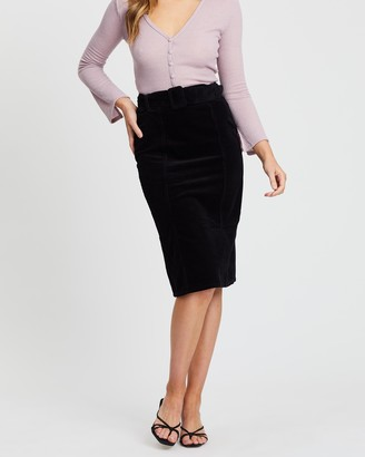 Dorothy Perkins Belted Cord Midi Skirt
