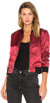 3x1 Satin Bomber Jacket in Red. - size XS (also in )