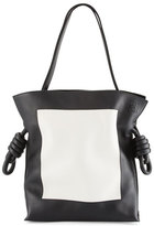 Loewe Flamenco Knot Shoulder Bag, Black/White