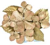 Michael Michaud for Silver Seasons Hand-Cast Bronze Hydrangea Brooch