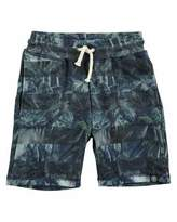 Molo Ajaz Palm Tree Stripe Drawstring Shorts, Green, Size 4-12