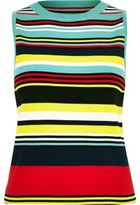 River Island Womens Blue knit stripe sleeveless top