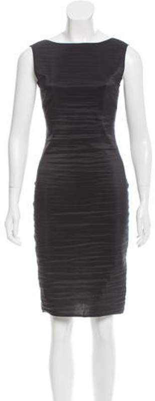The Row Sleeveless Knee-Length Dress Black Sleeveless Knee-Length Dress