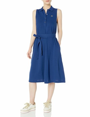 Lacoste Women's Sleeveless Belted Pique Polo Dress