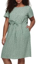 Thumbnail for your product : Only Chinois Karo Dots Tunic Dress Green